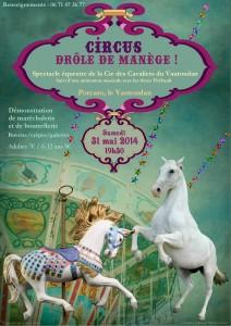 """""""Circus"""", spectacle équestre de la Cie des Cavaliers du Vautoudan (2014)"""