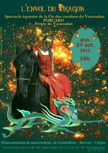"""""""L'envol du Dragon"""", spectacle équestre de la Cie des Cavaliers du Vautoudan (2013)"""